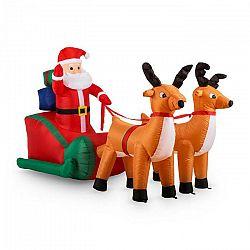 OneConcept X-MAS-X-PRESS, 240 cm, nafukovacia vianočná dekorácia, Santa Claus