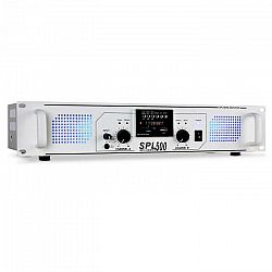 PA zosilňovač Skytec SPL-500, USB, SD, MP3, 1600 W, biely