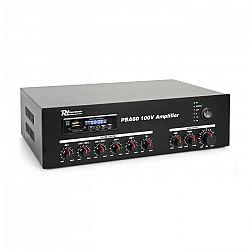 Power Dynamics PBA60, 100 V zosilňovač, 60 W, USB/SD port, MP3, bluetooth