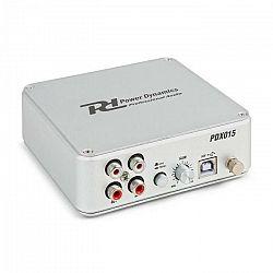 Power Dynamics PDX015, phono predzosilňovač, softvér, USB 2.0 pripojenie, strieborný