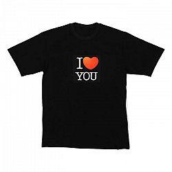 Resident DJ LED tričko I LOVE YOU, veľkosť M