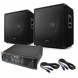 """Skytec DJ PA set """"Lewis 1600 Bass Hurricane"""", 45 cm 1600 W"""