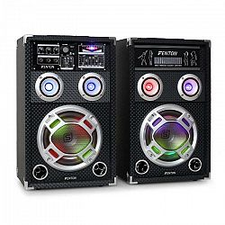 Skytec KA-08, 600W, sada aktívnych PA karaoke reproduktorov