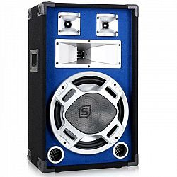 Skytec PA reproduktor, 30 cm, LED svetelný efekt, 600W, modrý