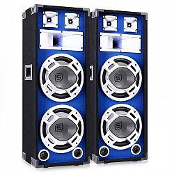 Skytec Pár 25 cm PA reproduktorov, modrý svetelný efekt, 2 x 800 W