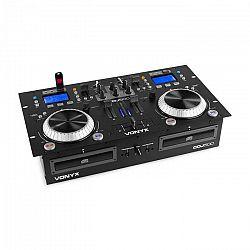 Vonyx CDJ500, DJ Workstation, 2 CD prehrávače, BT, 2 x USB, port, 2-kanálový mixér