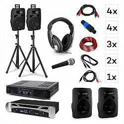 Vonyx Lisbon DJ systém – sada + PA zosilňovač + PA reproduktor + DJ slúchadlá + mikrofón