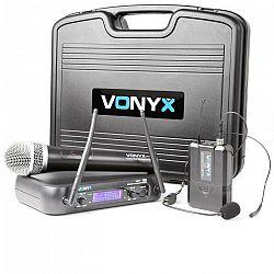 Vonyx WM73C, bezdrôtový 2-kanálový UHF vysielací systém