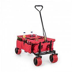 Waldbeck Red Devil, ručný vozík, skladací, 68 kg, bočné vrecká, červený