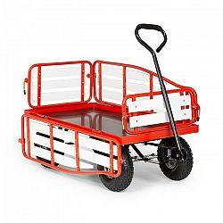 Waldbeck Ventura, ručný vozík, maximálna záťaž 300 kg, oceľ, WPC, červený