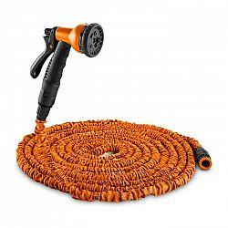 Waldbeck Water Wizard 15, flexibilná záhradná hadica, 8 funkcií, 15 m, oranžová